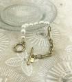 Bracelet - Chaîne Et Perles d'Eau Douce