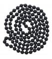 Collier Perles Naturelles - Onyx Noire Givrée