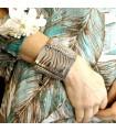 Bracelet Manchette Perles Miyuki Acier