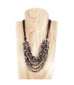 Collier Court - Perles en Verre Cristal Facetté Multirangs