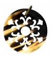 7cm - Pendentif  Rond Mandala Fleurs