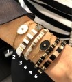 Mix your Look ! Bracelets miyuki et tila / Bracelet acier