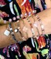 Bracelets trèfles sur acier et Tila Miyuki