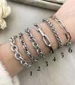 Bracelets différentes mailles - Argent