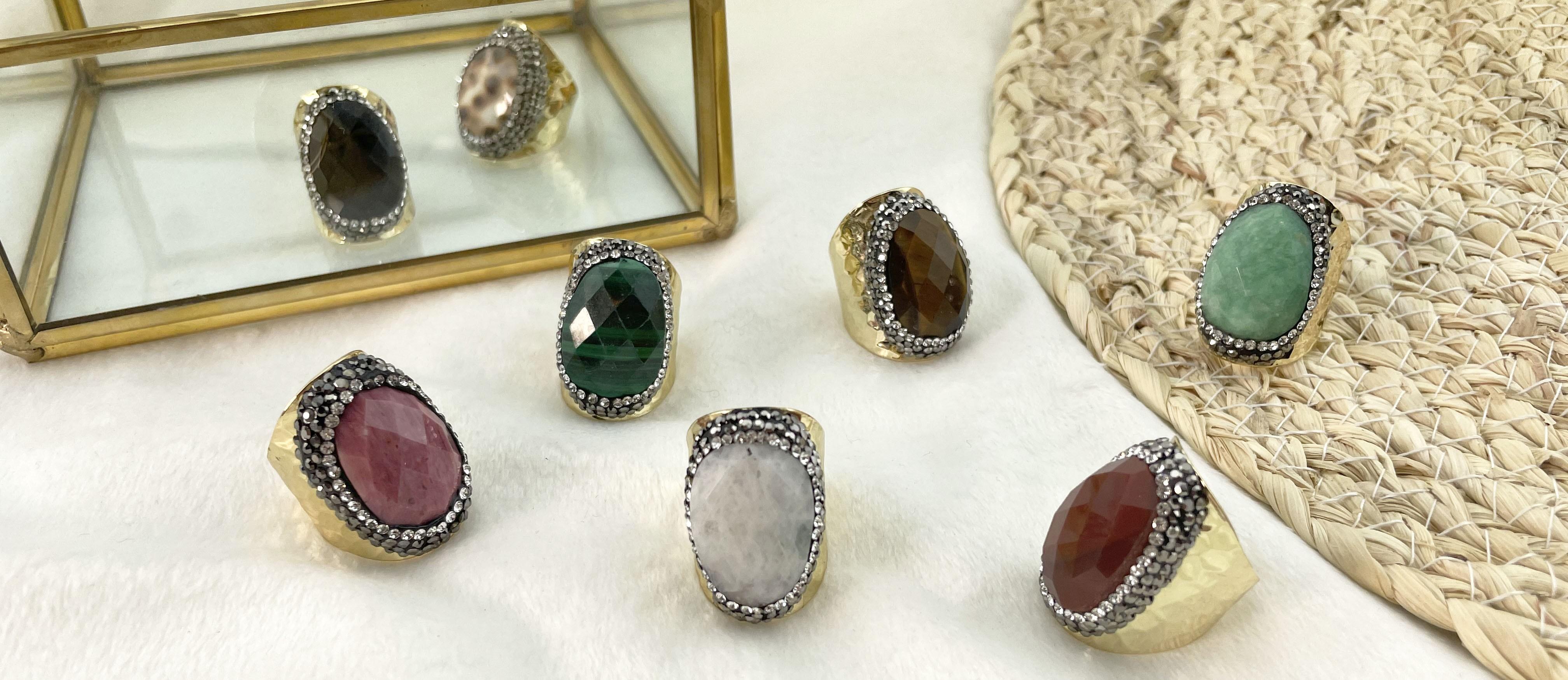 Bagues pierres naturelles